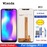 Wlenda do wyświetlacza LCD Leagoo M11 + ekran dotykowy naprawa digitizera części zamienne do M11 akcesoria do telefonu + darmowe narzędzia w Ekrany LCD do tel. komórkowych od Telefony komórkowe i telekomunikacja na