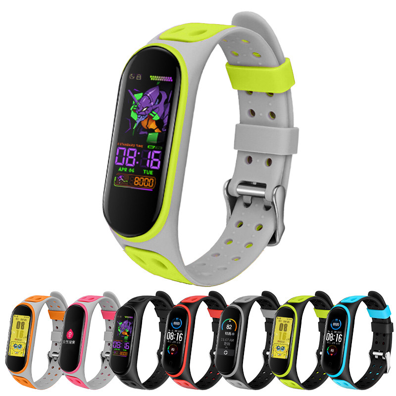 for xiaomi <font><b>mi</b></font> <font><b>band</b></font> 5 miband 5 <font><b>4</b></font> <font><b>3</b></font> <font><b>strap</b></font> <font><b>Silicone</b></font> Soft TPU smart <font><b>Wristband</b></font> replacement sport <font><b>straps</b></font> for xiomi <font><b>mi</b></font> <font><b>band</b></font> 5 <font><b>bracelets</b></font> image
