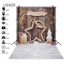 Laeacco Рождественский Фотофон деревянная доска звездный подарок