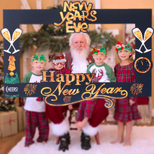 Large 2020 Christmas family Photo Hand Holder frame Booth props decoration Xmas party for home navidad Happy New Year