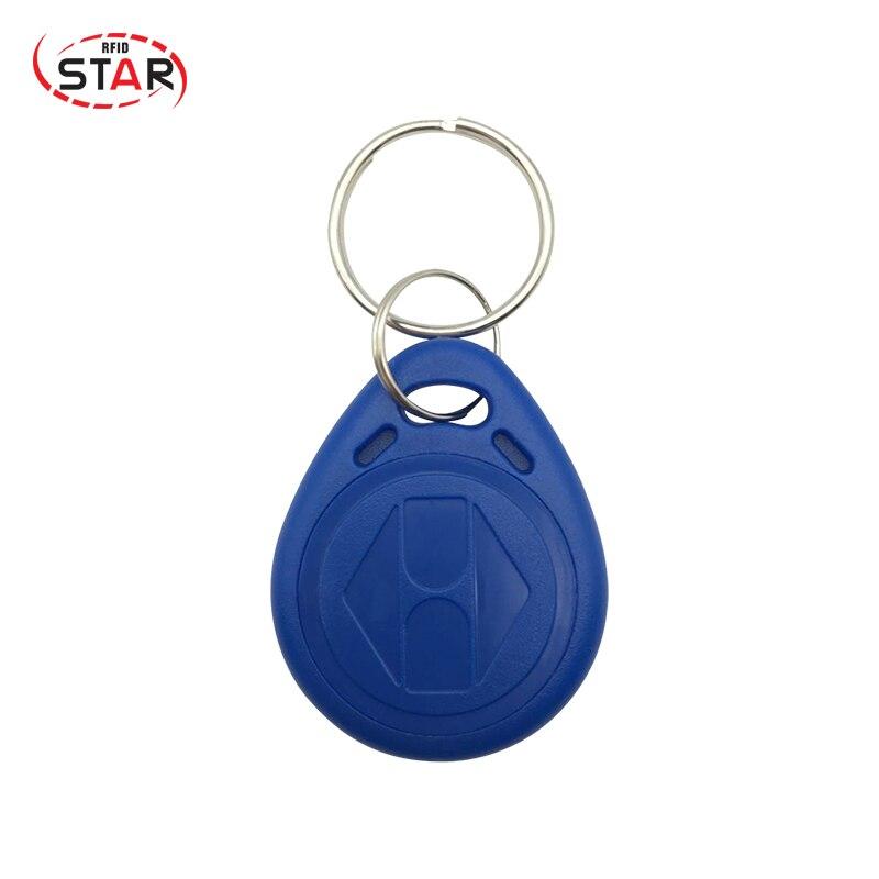 70pcs T5577 Rewritable Writable Proximity Keyfobs Duplicate RFID Tag Copy 125KHZ RFID Token Key Ring Fobs Tags Keychain Access