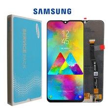 SÜPER AMOLED 6.3 samsung LCD Galaxy M20 2019 SM M205 M205F lcd ekran dokunmatik ekranlı sayısallaştırıcı grup yedek parçalar