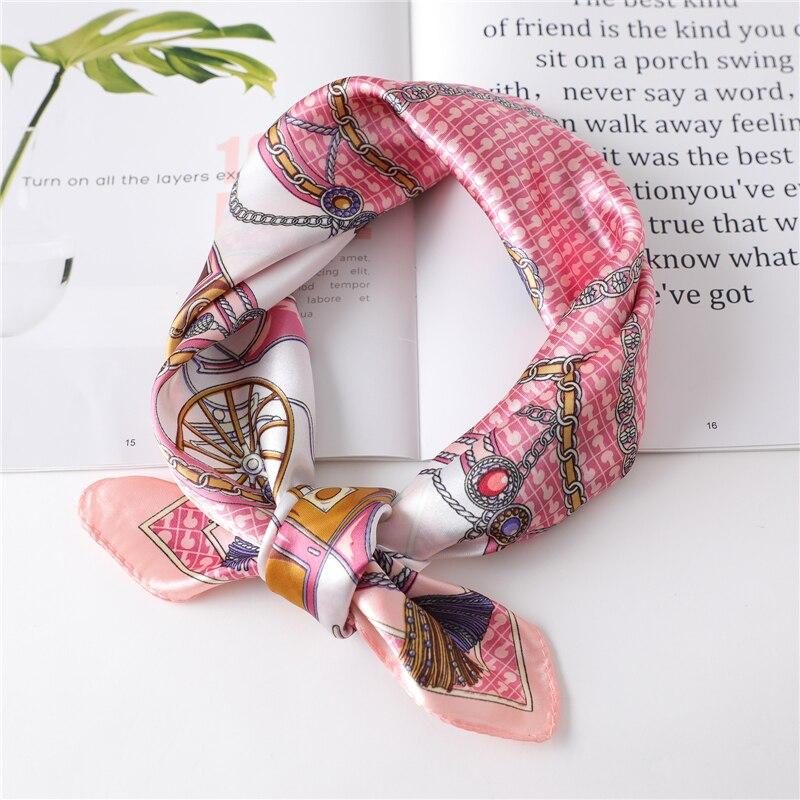 Frauen Seide Tasche Schal Mode Dame Haar Platz Schals Weibliche Schal Und Wraps Frauen Bandana Designer Druck Foulard Halstuch