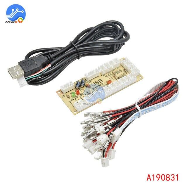 2 pièces 2x zéro retard Arcade USB encodeur PC à Joystick et bouton pour MAME combat bâton contrôle Circuit imprimé