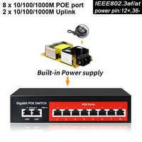 SZSSCEE Gigabit 10 porte Switch Poe supporto Ieee802.3af/a Ip telecamere Senza Fili e Senza Fili AP 10/100/1000 mbps standard di switch di rete