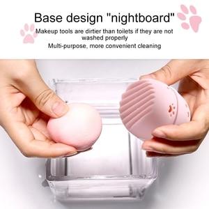 Image 5 - Beautypapa รูปแมวซิลิโคนแต่งหน้าฟองน้ำผู้ถือแบบพกพาเครื่องสำอางค์พัฟแคปซูลกระเป๋าถือความงามฟองน้ำ Stand Make Up เครื่องมือ