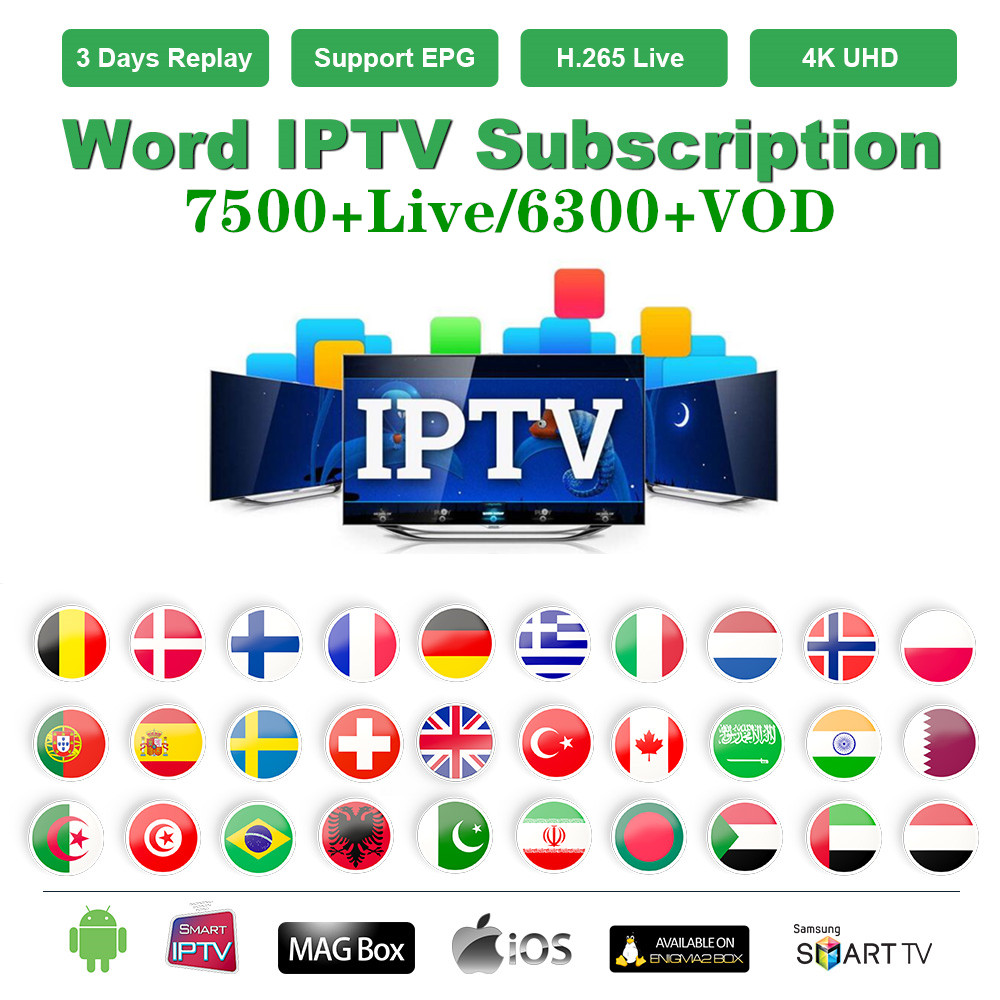 Stable World IPTV M3u Subscription Europe IPTV Spain Italy German French Poland Turkey For Smart TV Box Android PC Windows Etc.