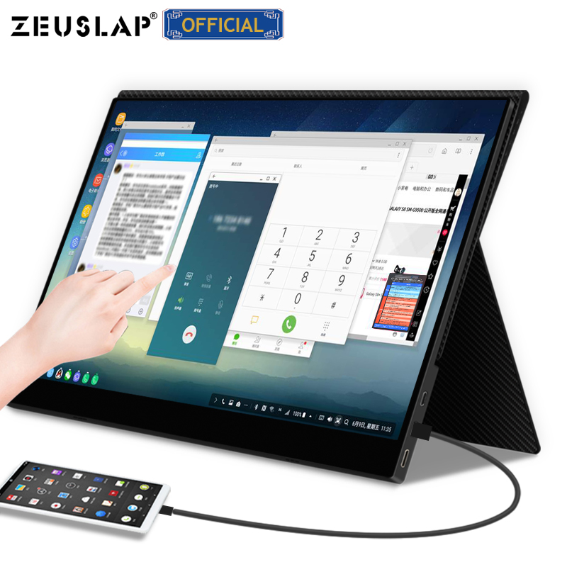 Ultra Thin Portable Monitor 13.3 15.6 Portable Computer Touch Monitor For Laptop Mobile Phone Switch Ps4 External Screen