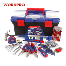 WORKPRO 170PC Household Tool Set Home Tools Plastic Tool Box Set