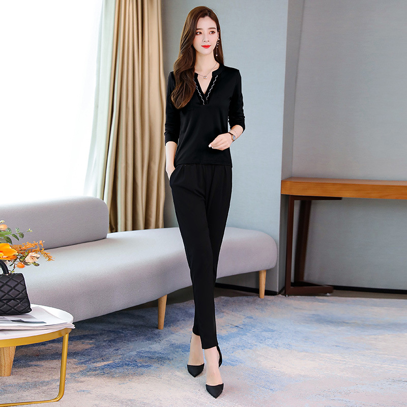 V-neck Convention One-Piece Cool Versatile By Age Fashion Elegant Loose-Fit Slimming Waist Hugging