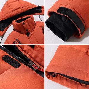 Image 5 - Мужская парка на пуху высокого качества, Толстая теплая зимняя куртка с капюшоном, плотное пальто на утином пуху, повседневное облегающее пальто со множеством карманов для мужчин