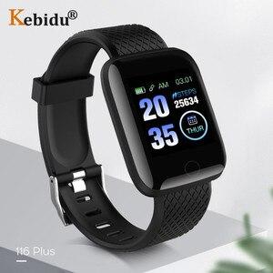 Image 2 - Kebidu 방수 스포츠 smartwatch 남자 혈압 심장 박동 모니터 피트니스 트래커 시계 안드로이드 ios에 대한 gps 스마트 시계