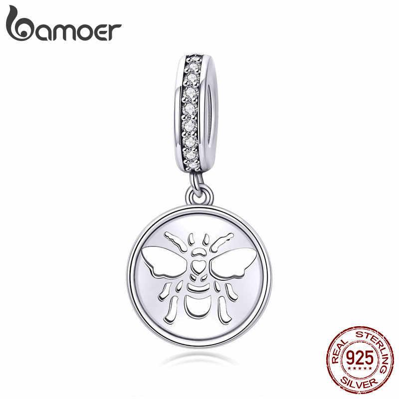 Bamoer 2020 yeni 925 ayar gümüş kolye çekicilik için fit orijinal yılan bilezik kolye DIY güzel takı aksesuarları BSC203