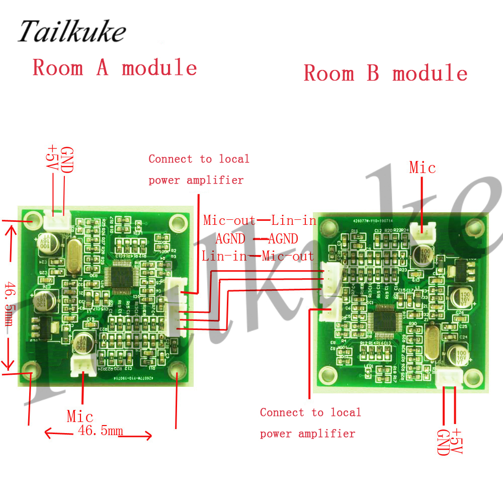 Anti-whistling Circuit Board For Echo Cancellation Module Hand-free Video Conference Of Hospital Intercom System