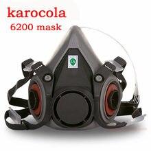 Masque facial à gaz k6200, demi-masque, Protection contre la poussière chimique, filtre à vapeur toxique, respirateur, adapté aux filtres