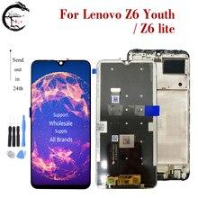 ЖК дисплей 6,3 дюйма для Lenovo Z6 Lite с рамкой, Молодежный сенсорный экран с дигитайзером в сборе для Z6lite, Z6Youth, полный дисплей