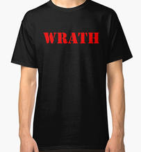 Limited Wrath Natural Selection Logo Design Men Black T-Shirt Size S-3Xl Print T Shirt Men(China)