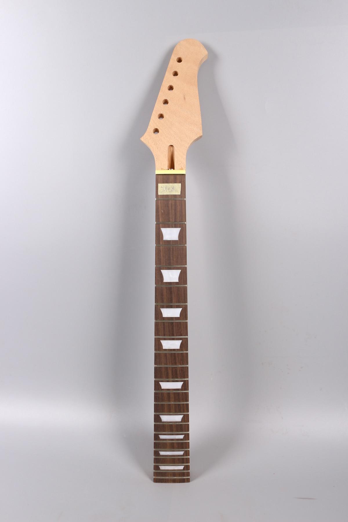 Custom Order 22fret Guitar Neck 24.75 Inch Mahogany Rosewood Fretboard Set In Glue On Style Firebird Headstock