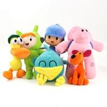 Pocoyo pelúcia brinquedo animal de pelúcia pássaro pato elefante bonito macio boneca de pelúcia brinquedo para crianças presente 16-30cm