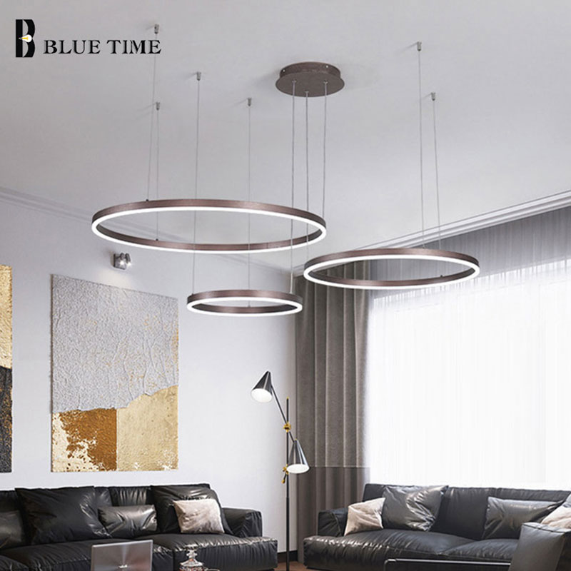 lowest price Modern LED dining room chandelier lighting Nordic restaurant long hanging lights office fixtures Bar illumination study lamps