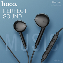 лучшая цена hoco earphone headset 3.5mm wire in ear earphone with microphone for xiaomi samsung hifi earphones with mic mini ear phone 3.5