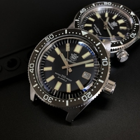 STEELDIVE 62Mas Diver Automatic Mechanical Men Watch NH35 Stainless Steel Ceramic Bezel Sapphire Glass Luminous