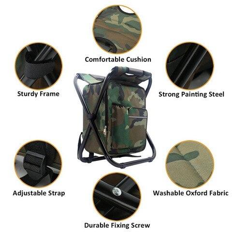 acampamento portatil dobravel mochila cadeira dupla oxford