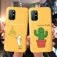 Funda de silicona para Oneplus 8, protector suave, Color caramelo, One plus Nord 8T 7T 7 Pro 6T Oneplus 8t One plus8