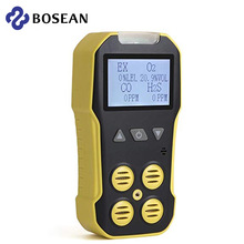 Bosean Multi Gas Detector Gas Meter O2 H2S CO LEL 4 in 1 Oxygen Hydrogen Sulfide Carbon Monoxide Combustible Gas Leak Detector