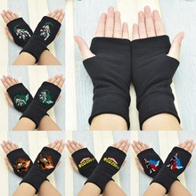 1 Pair Hot Sale Anime My Hero Academia Finger Cotton Knitting Wrist Gloves