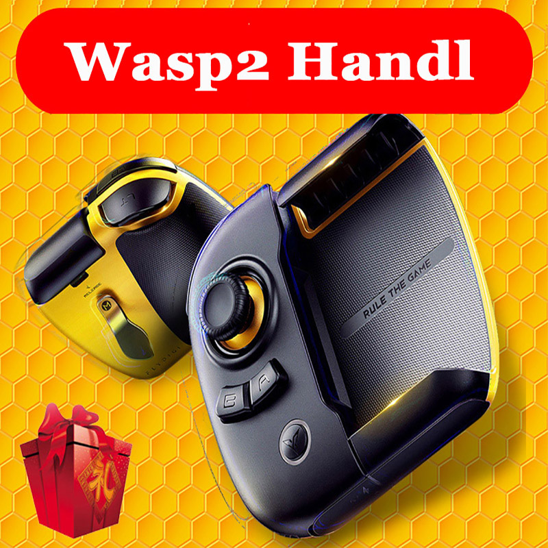 Flydigi Wasp 2 Half Handed gamepad mobile phone pad tablet controller game pubg mobile IOS Android Bluetooth controller