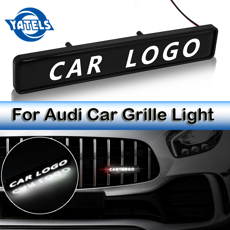 Audi Sline Front Grille Badge Black Car External Accessory Logo Emblem Chrome x1