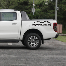 free shipping 2PC ranger mountain off road 4x4 box bed skull stripe  car stickers for Ford Ranger