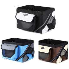 Outdoor Pet Bags Bicycle Dogs Baskets Puppy Cat Bicycle Baskets Bike Handlebar Front Basket Small Cat Dog Carrier For Travel Pet
