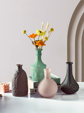 Creative Relief glass vase home decoration simple frosted dried flower for desktop decorative