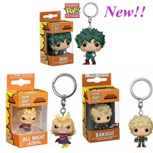 Funko POP 키 체인 장난감 My Hero Academia Deku All Might Bakugo 피규어 PVC 액션 피겨 완구 포켓 팝 Collectible Model Toys(China)
