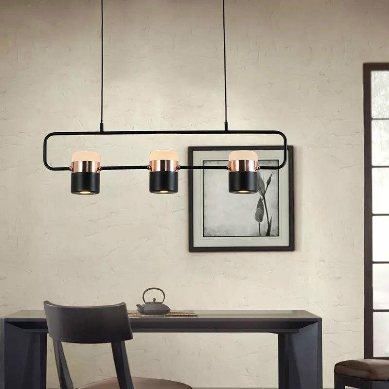 Bedroom Bedside Table Metal Hanging Lamp Modern Bar Restaurant Multi-element Rotating Chandeliers LB011415