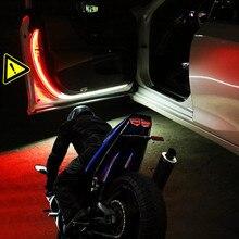 2 adet yeni araba kapı uyarı ledi ışıkları dekor lambası için Hyundai Solaris Accent I30 IX35 Tucson Elantra Santa Fe Getz I20 sonata I40