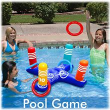 Summer Water Beach Party Props Children And Adults Inflatable Cross Ring Toss Game Swimming Pool Fun Toys Plaything Air Mattress