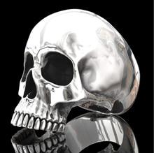 Hip Hop Men's Fashion Stainless Steel Skull Ring For Men Jewelry Accessories Punk Gothic Skeleton Biker Party Ring Gift men s punk skull skeleton bracelet 316l stainless steel link wrist skulls gothic bracelets pulsera calavera jewelry gift