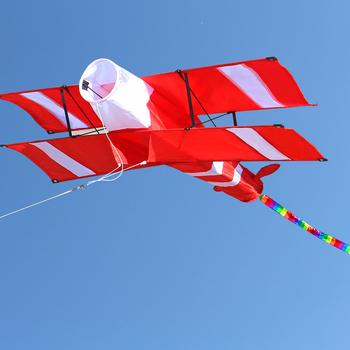 Nowy wysokiej jakości 3D pojedyncza głowica czerwony samolot latawce sportowa plaża z uchwytem latawca i sznurkiem łatwe do latania tanie i dobre opinie NoEnName_Null Poliester 12-15 lat Dorośli 8 lat 8-11 lat 2019070062530 Długi Zestaw Uchwyt i linii latawca Don t fly in storm