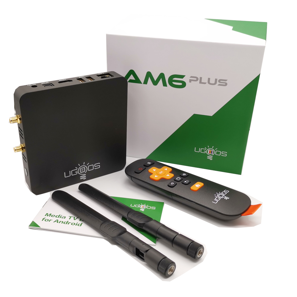 UGOOS AM6 Plus Amlogic S922X-J 2.2Ghz Android 9.0 Tv Box 4GB DDR4 32GB 2.4G 5G Wifi 1000M BT5.0 4K Media Player For Dolby Atmos Pakistan