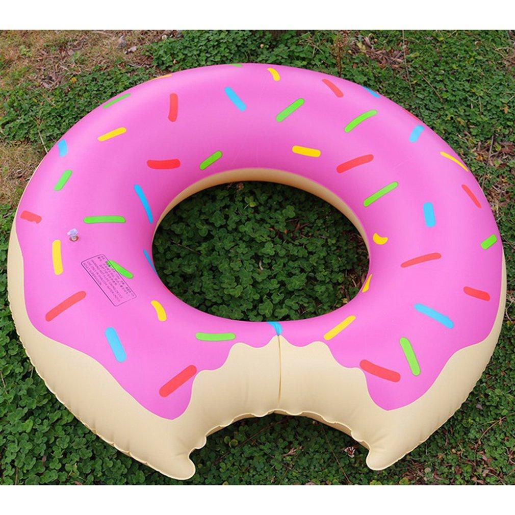 PVC Inflatable  Pool Swimming Ring Watermelon Shape Adult Kid Swim Circle Float