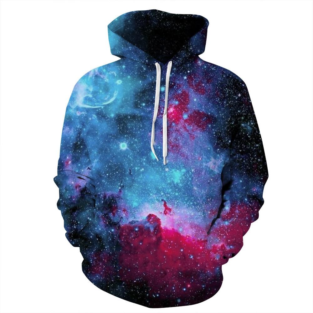 2020 New Space Galaxy Hoodies Men/Women Sweatshirt Hooded 3d Brand Clothing Cap Hoody Print Paisley Nebula Coat Tops