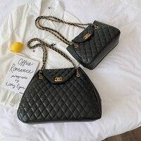 Luxury Brand Logo PU Leather Women Chain Shoulder Famous Design Ladies Paris Messenger Vintage Crossbody bags channels handbags