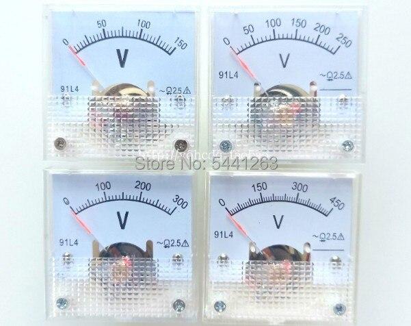Аналоговый измеритель напряжения 91L4 AC 0-150V 250V 300V 450V, вольтметр, измеритель напряжения 91L4 AC 0-150V
