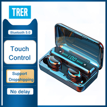 Wireless Headphone Earphones with Microphone TWS 5.0 Headphones Waterproof Touch Control Dynamic Cry