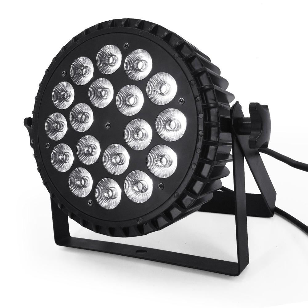 Светодиодный светильник 18x18 Вт RGBWA UV 6в1 светодиодный светильник s светодиодный плоский par прожектор сценический светильник ing с бесшумным вентилятором 18x12 Вт RGBW