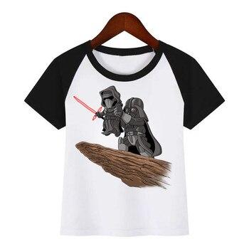 Children New Cartoon STAR WARS Darth Vader Print T Shirt Summer T-shirt Kids Fashion Clothing T Shirt Children Cartoon T-shirt children s clothing new summer 2020 fashion children s short sleeved t shirt