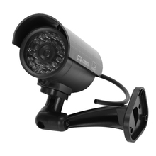 Пустышка Камера Наблюдения Пуля камера с ИК светодиодами поддельная имитация CCTV камера безопасности